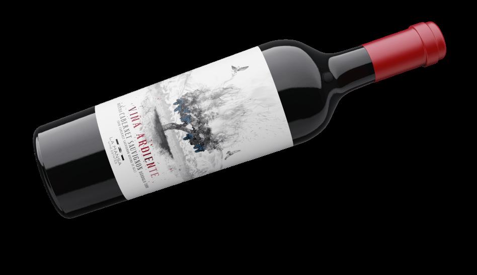 Botella viña ardiente cabernet sauvignon