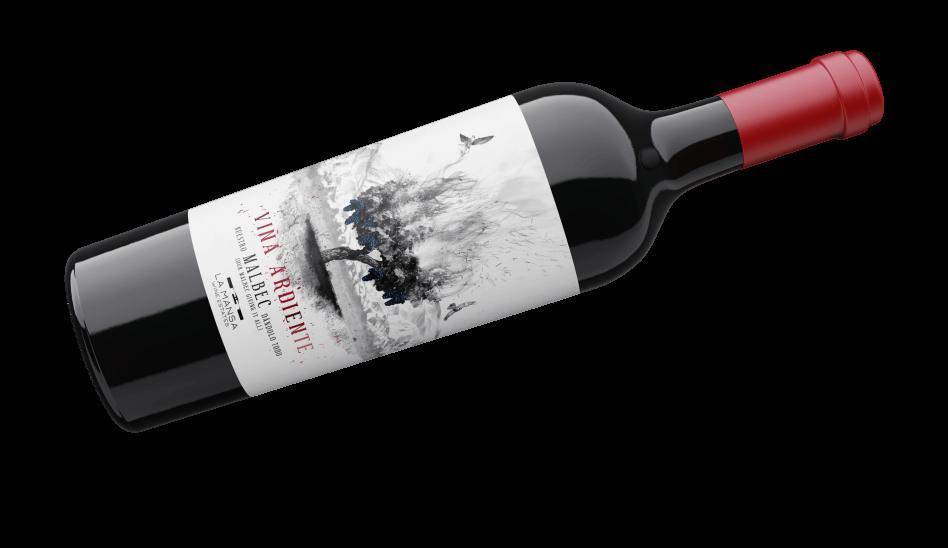 Botella viña ardiente malbec